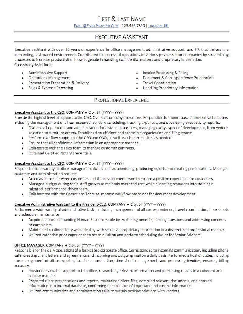 office administrative assistant resume sample