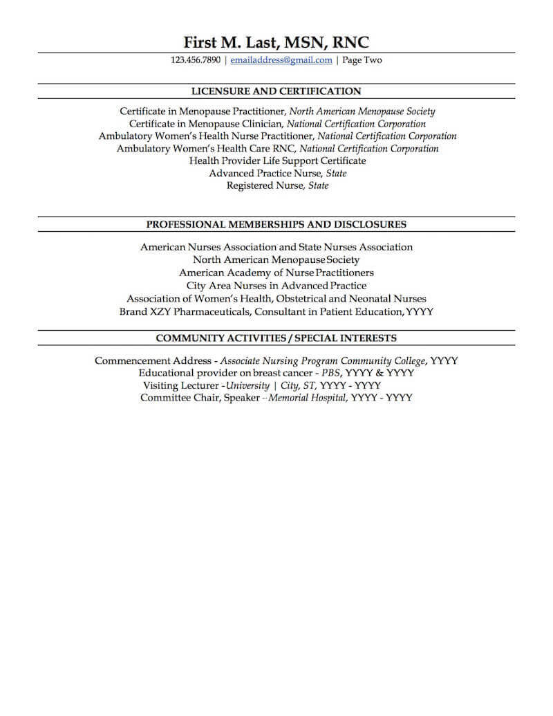 Nurse Practitioner Resume Sample Professional Resume Examples Topresume