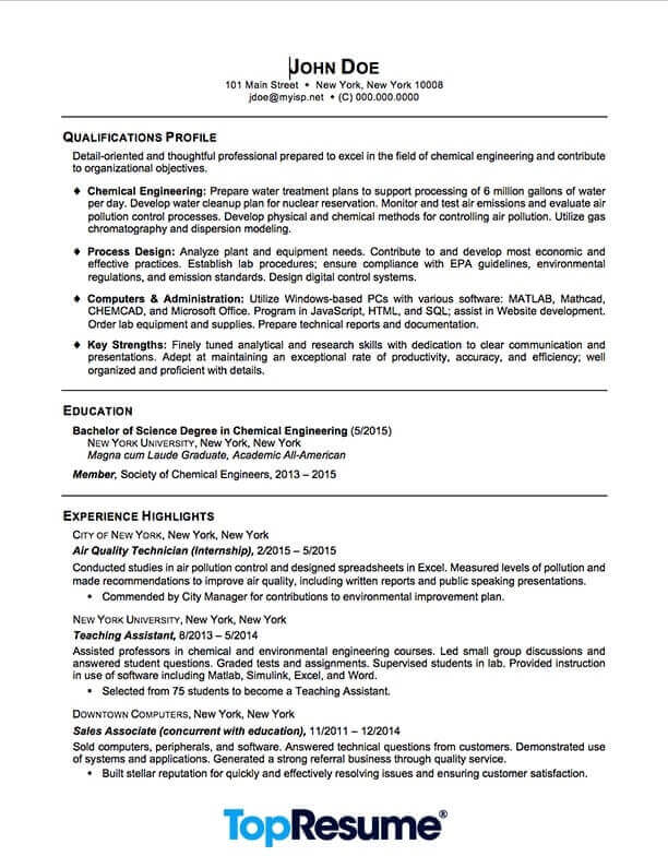 Recent Graduate Resume Resume Sample Professional Resume