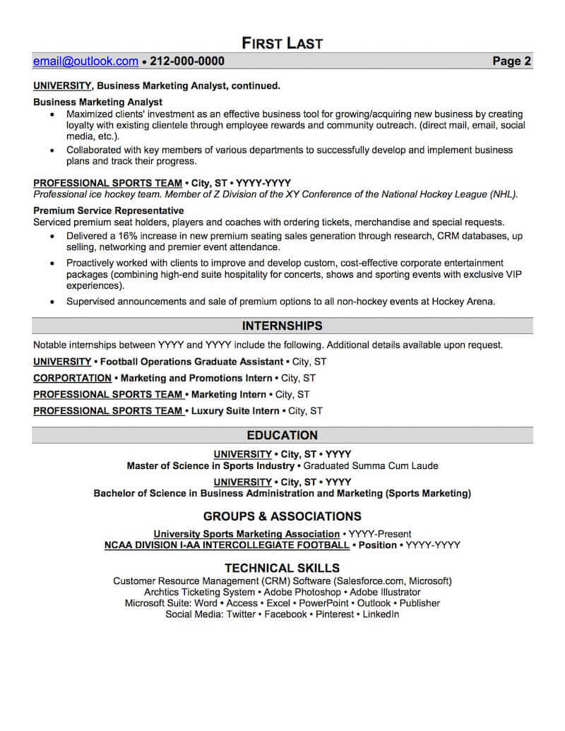 Sports And Coaching Resume Sample Professional Resume Examples